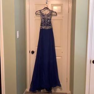 Blush Long Prom Dress